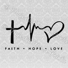 Faith Hope Love Heartbeat SVG