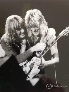 Randy Rhoads and Ozzy Osbourne.........