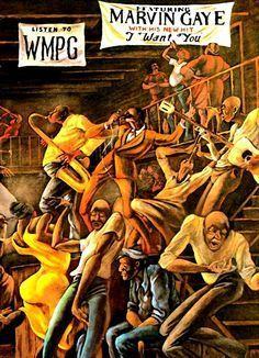 "Marvin Gaye's ""I Want You,"" Ernie Barnes art. African American Artist, African Art, Ernie Barnes, Wal Art, Black Art Pictures, Black Love Art, Drawn Art, Marvin Gaye, Black Artwork"