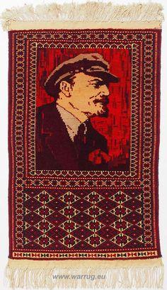 Rare Wladimir Iljitsch Lenin Pictorial warrug teppich orientteppich Kriegteppich