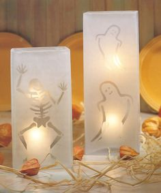 Ghost and Skeleton Luminaries by Livia McRee