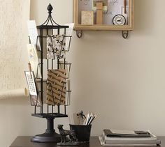 Tabletop Photo Carousel   Pottery Barn - pretty handy for displaying select postcards