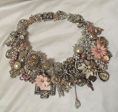 Designer Necklace, Custom Made to order Neck Piece, One of a kind haute couture jewellery.