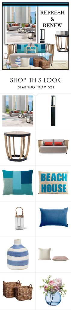 """""""Outdoor lounge at the beach house"""" by budding-designer ❤ liked on Polyvore featuring interior, interiors, interior design, home, home decor, interior decorating, Ethimo, Normann Copenhagen, Alexandra Ferguson and Garden Trading"""