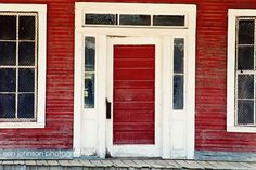 Red Home Decor  The Red Porch Burnt Corn Alabama by eireanneilis, $28.00