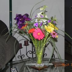 I love to cut my own flowers and arrange them