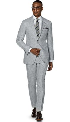 Suit Light Grey Check Havana P5154i | Suitsupply Online Store