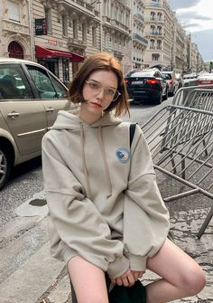 Logo Pocket Hoodie - I know you wanna kiss me. Thank you for visiting CHUU. Ullzang Girls, Cute Girls, Cl Rapper, Clip Hairstyles, Chloe, Russian Beauty, Bollywood Actress Hot Photos, Girls With Glasses, Elle Fanning