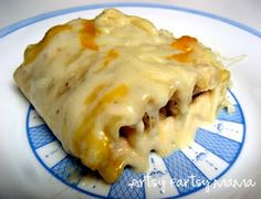 YUM! Alfredo roll ups! I have done lasagna roll-ups, which are yummy