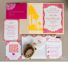 Luxury Wedding Invitations by Ceci New York - Our Muse - Festive Wedding in Mexico - Be inspired by Sara and Douglas's festive wedding in Me...