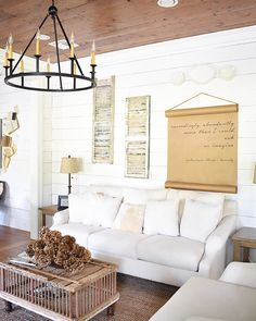 White Farmhouse Living Room Ideas And Inspiration. Look No Further For  Inspo To Decorate Your Home With Rustic And Farmhouse Style Products.