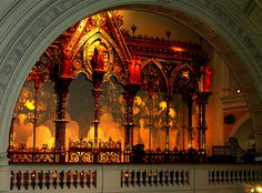 The Hereford Screen made for Hereford Cathedral housed in the V & A musuem in London. Was built in 1862.
