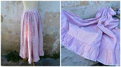 Vintage Antique Victorian petticoat underskirt white & by laboheme