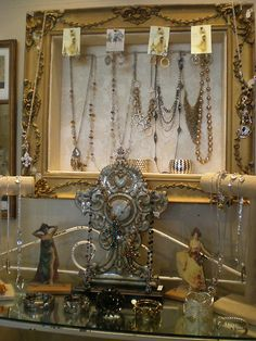 The Attic: Repurposed Jewelry Displays  from the Attic Girls....beautiful shop!