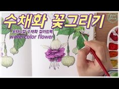 YouTube Watercolor Flowers, Graphic Design, Drawings, Youtube, Coloring, Illustration, Image, Watercolor Painting, Paintings