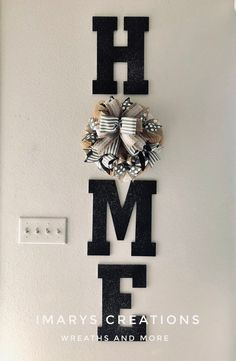 Farmhouse Letters H O M E with Wreath ,Home Letters with Wreath as O, Wedding gift, Home Decor Decorative Letters, - Modern Easy Home Decor, Home Decor Styles, Home Decor Items, Cheap Home Decor, Home Decor Accessories, Magnolia Home Decor, Magnolia Homes, Letter Wall Decor, Room Wall Decor