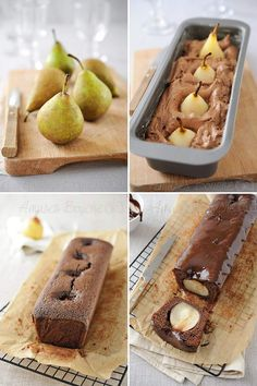 Gâteau poire chocolat Köstliche Desserts, Chocolate Desserts, Cake Chocolate, Cake Recipes, Dessert Recipes, Appetizer Recipes, Pear Cake, Healthy Cake, No Bake Cake