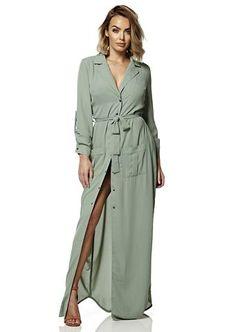 Sage Buttoned Maxi Dress