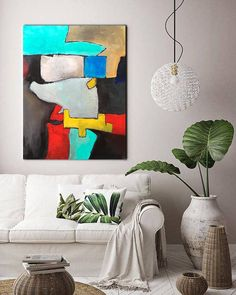 Large abstract painting canvas acrylic Large wall paintings