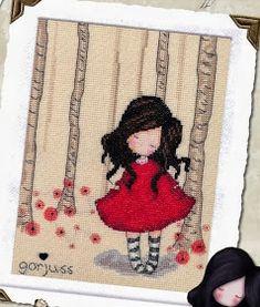 Baúl de Punto de Cruz: Muñecas Gorjuss Bothy Threads, Cross Stitch For Kids, Cute Dolls, Needle And Thread, Cross Stitching, Cross Stitch Patterns, Little Girls, Decoupage, Crochet Hats