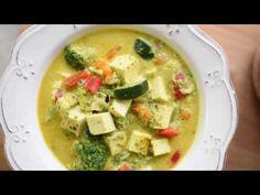 Curry de legume cu tofu si lapte de cocos | Traieste Gateste - retete vegetariene,vegane,raw si de post Tofu, Cheeseburger Chowder, Curry, Make It Yourself, Youtube, Curries, Youtubers, Youtube Movies