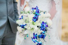 A favorite color with many brides is a white bouquet with touches of color