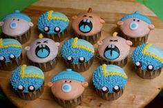 Baby Cupcake Decorations | 12 Chocolate cupcakes