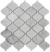 Carrara Bianco Polished Arabesque Marble Mosaic Tile
