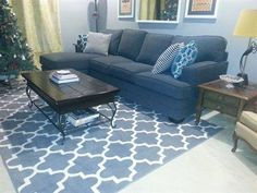 Maples Fretwork Area Rug $150 7x10 | Living room change up ...