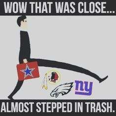If that suitcase had a broncos sign on it and the cowboys were on the ground