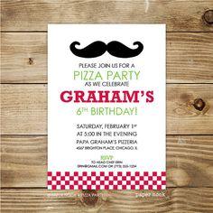 PRINTABLE Pizza Party Invitation