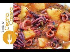 Calamares guisados fáciles - Recetas de Cocina Casera - Recetas fáciles y sencillas