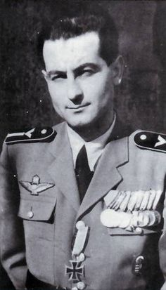 Hungarian ace Warrant Officer Dezso Szentgyorgi January 1915 - 28 August 29 confirmed kills and 6 probable. Hungary's highest scoring ace during Flew the MAWAG Heja (license built and Messerschmitt Bf Postwar was a pilot for Becoming A Pilot, Osprey Publishing, Ww2 Uniforms, Warrant Officer, Pilot Training, Central And Eastern Europe, Fighter Pilot, Us Army, World War Two