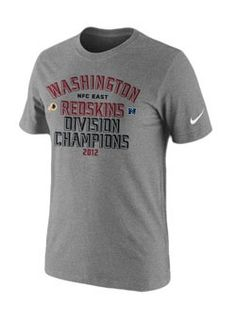 Celebrate your Redskins as 2012 NFC East Division Champs with this NFL Nike Division Champs T-Shirt.
