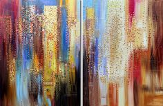 Modern City | From a unique collection of abstract paintings at https://www.1stdibs.com/art/paintings/abstract-paintings/