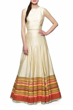 Tops, Tops, Clothing, Carma, Crop Top and Skirt ,  , Evening, Festive , Engagement, Sangeet, Mehendi , Chanderi Silk , India , Dry clean only ,