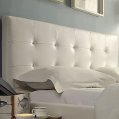Overstock.com Mobile King Headboard, Profile Design, Bonded Leather, Guest Room, Bed Pillows, Pillow Cases, Home And Garden, Minimalist, Headboards