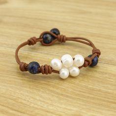 Pulsera pulseras pulsera pulsera de la perla por PearlJewellery