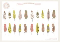 FREE printable feathers <3