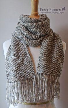 Free Knitting Pattern Seed Stitch Scarf