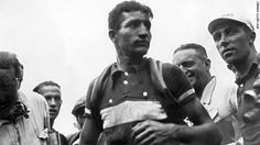"""Gino Bartali: The Man Who Helped Save Italy's Jews. Gino Bartali wanted to keep it to himself. How could a man, so famous and so revered, keep it a secret for so long? """"Good is something you do, not something you talk about,"""" Bartali once explained. """"Some medals are pinned to your soul, not to your jacket."""" (That quote... Whoa.....) .... (click photo to read article)"""