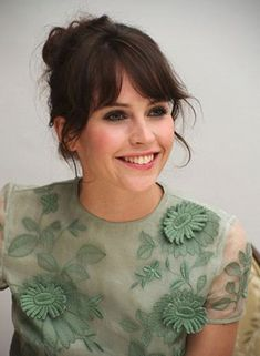 Felicity Jones up style and beautiful green top
