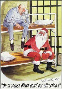 Papa noël en prison