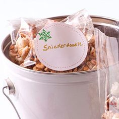 All the flavors of a favorite cookie coat this snack of Snickerdoodle Popcorn. Flavored Popcorn, Popcorn Recipes, Snack Recipes, Cooking Recipes, Cooking Popcorn, Yummy Recipes, Healthy Popcorn, Gourmet Popcorn, Xmas