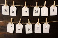 Custom Banner Mr and Mrs Your Last Name Cake by BrilliantBride, $22.99