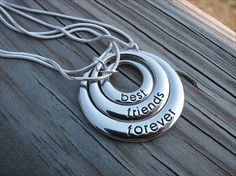 Best Friends Forever Necklaces - set of 3. $38.00, via Etsy.