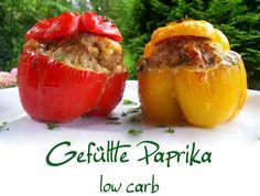 Gefüllte Paprika low carb Ganz einfach und schnell ist dieses leckere low carb Gericht zubereitet. Manchmal verwende ich statt dem milden Gouda auch würzigen Feta und meistens bereite ich gl…