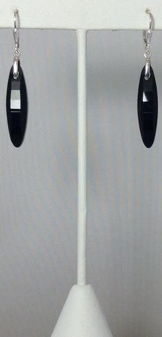 Swarovski Elements Jet Raindrop Earrings by KathyMirandaDesigns, $45.00