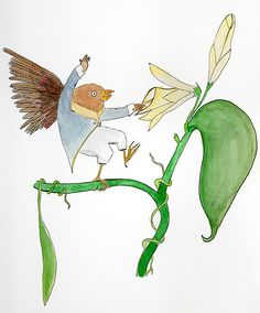 "Gorrión Peter, by Ari Fleck. ""Sometimes I hear birds in your head"" - pajarerianewton"
