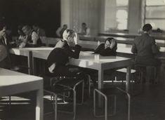 Iwao Yamawaki 山脇 巌 (1898–1987) Cafeteria after lunch, Bauhaus, Dessau, Germany 1930–2